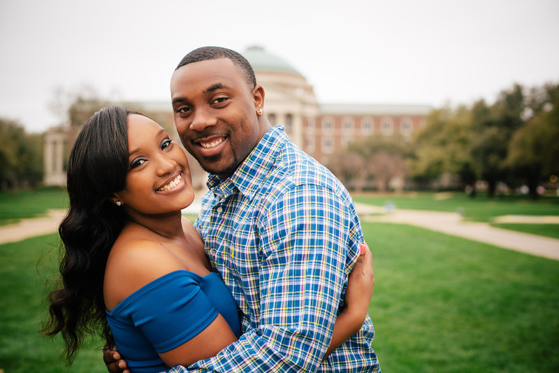 Saymora & Andrew's SMU Engagement Portraits in Dallas by Mary Cyrus Photography