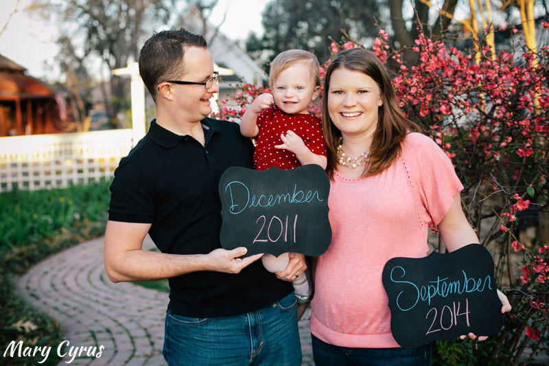 Pregnancy Announcement Photos by Mary Cyrus Photography in McKinney, Texas