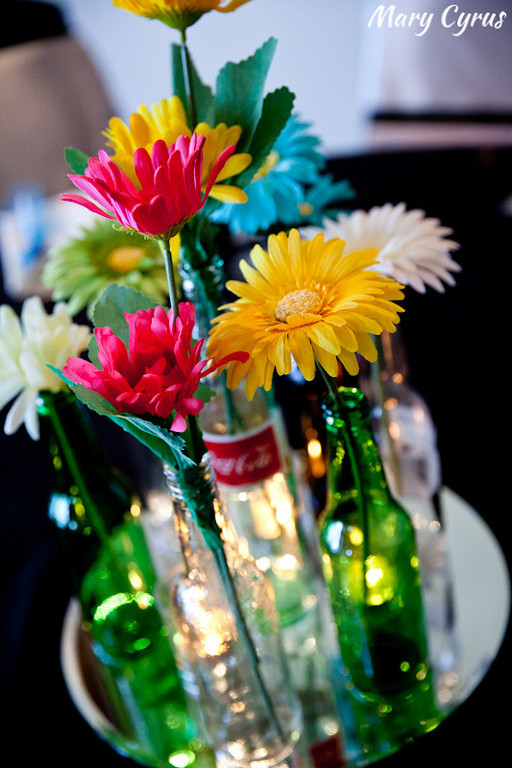 Mexican Coke & Beer Bottle Centerpieces for a Cinco de Mayo Wedding | Mary Cyrus Photography - Weddings & Portraits in Dallas, Texas & Beyond