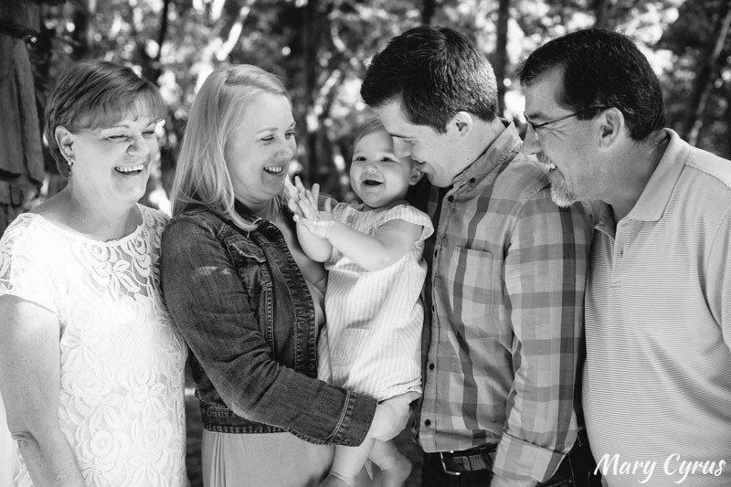 First Birthday extended family portraits at Addison Circle in Addison, Texas by Mary Cyrus Photography