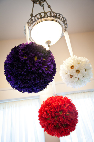 Red, white & blue daisy poms for decor | Wedding Photography in Dallas, Texas & Beyond by Mary Cyrus