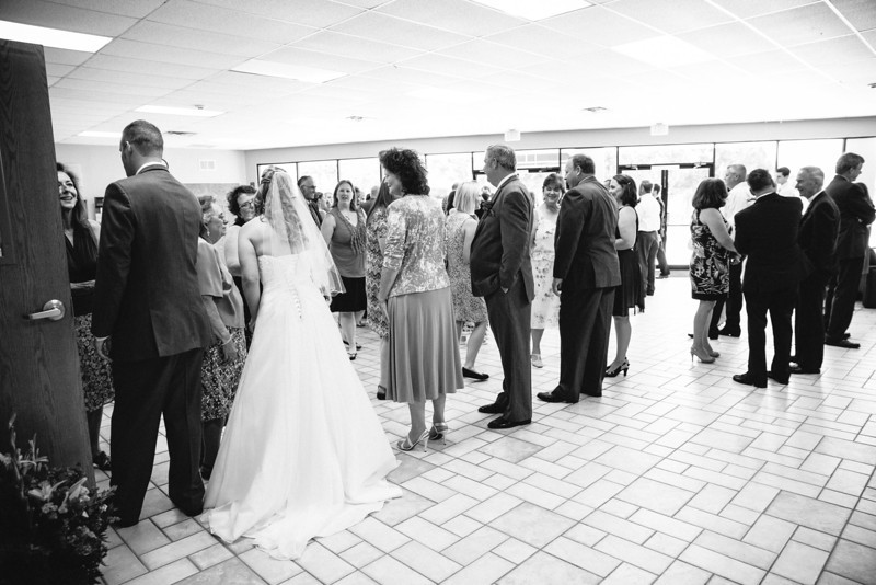 Receiving Line at Christina & Andrew's Wedding at Our Savior Lutheran Church in McKinney, Texas | Wedding & Portrait Photography by Mary Cyrus in Dallas & Beyond