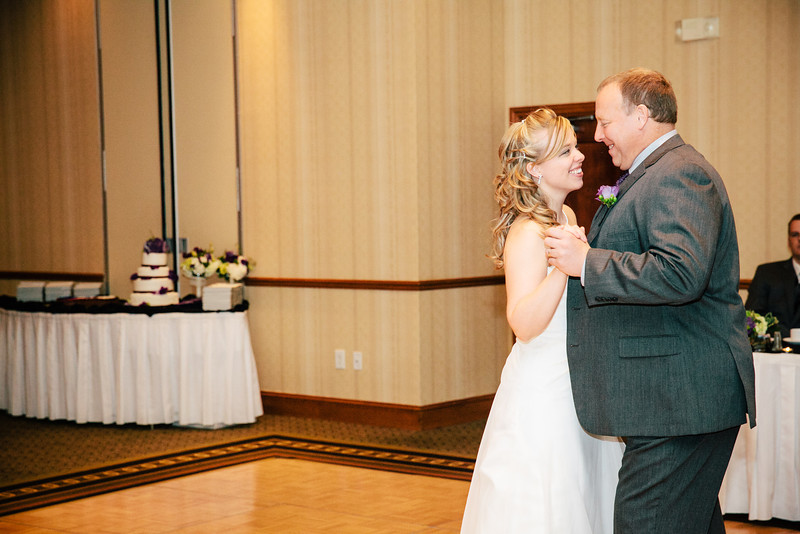 The Father Daughter Dance at Christina & Andrew's Wedding Reception at the Hilton Garden Inn in Allen, Texas | Wedding & Portrait Photography by Mary Cyrus in Dallas & Beyond