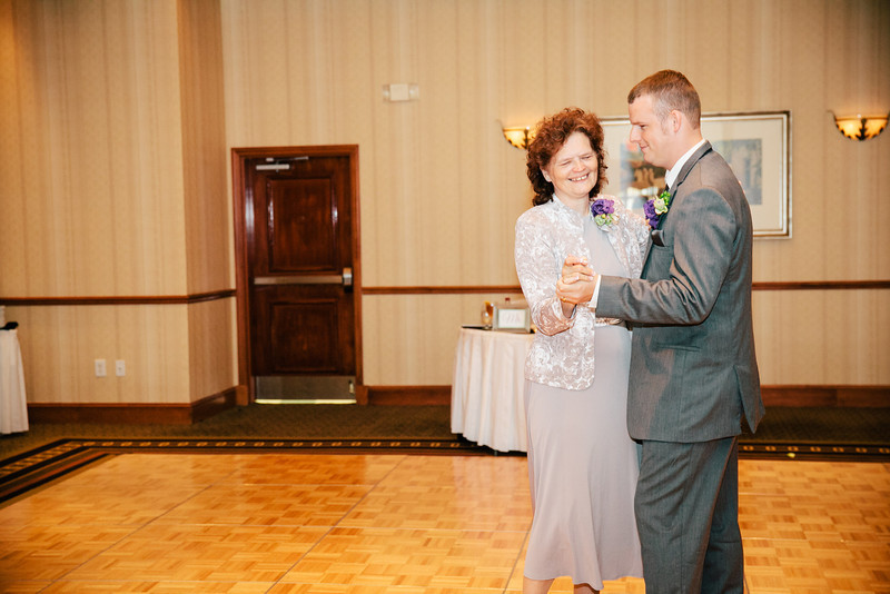The Mother-Son Dance at Christina & Andrew's Wedding Reception at the Hilton Garden Inn in Allen, Texas | Wedding & Portrait Photography by Mary Cyrus in Dallas & Beyond