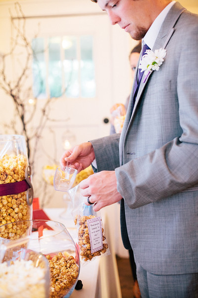 Popcorn buffet for wedding favors! A delicious idea. | Wedding Photography in Dallas, Texas & Beyond by Mary Cyrus