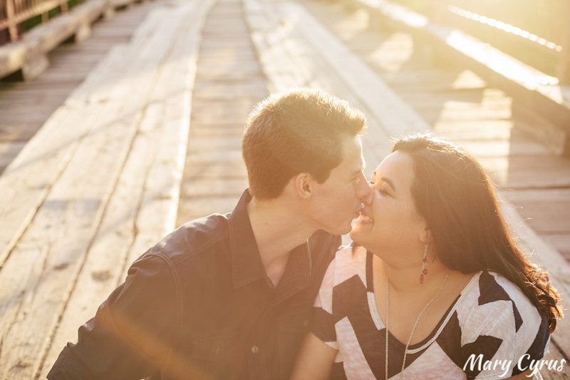 Engagement Portraits at Old Alton Bridge and the TWU Campus in Denton, Texas by Mary Cyrus Photography