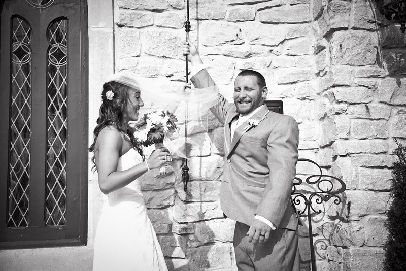 Ringing the bell after their ceremony at Bella Donna Chapel in McKinney | Wedding Photography in Dallas, Texas & Beyond by Mary Cyrus