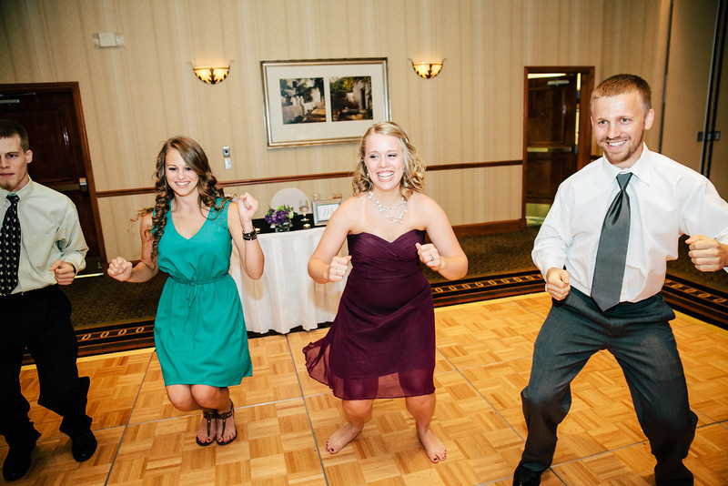 The Chicken Dance at Christina & Andrew's Wedding Reception at the Hilton Garden Inn in Allen, Texas | Wedding & Portrait Photography by Mary Cyrus in Dallas & Beyond