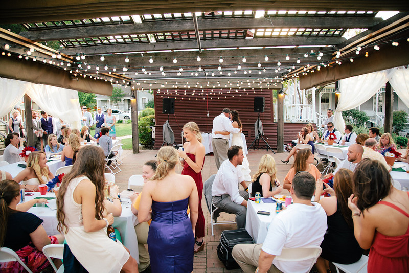 An outdoor wedding reception at Chestnut Square in McKinney | Wedding Photography in Dallas, Texas & Beyond by Mary Cyrus