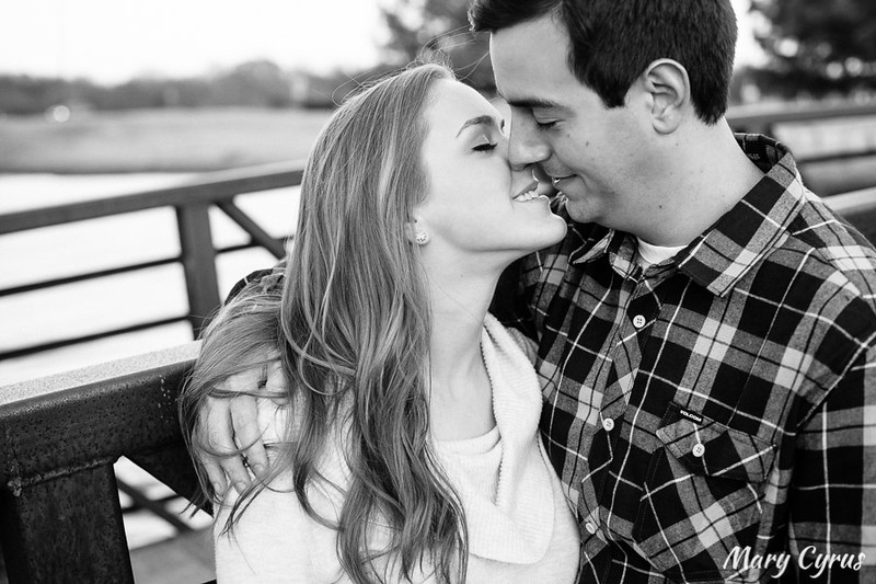 Towne Lake Autumn Engagement Portraits in McKinney, Texas by Mary Cyrus Photography