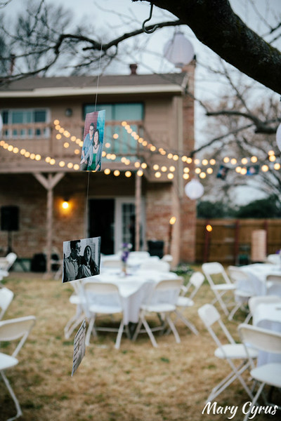 Bryan & Tara's laidback DIY backyard wedding reception photographed by Mary Cyrus Photography in Garland, Texas