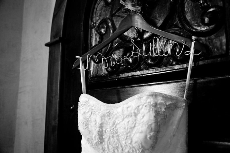 Bride's new last name on her wedding dress hanger | Wedding Photography in Dallas, Texas & Beyond by Mary Cyrus