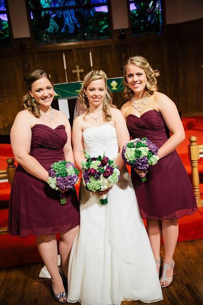 Christina with her bridesmaids at Our Savior Lutheran Church in McKinney, Texas | Wedding & Portrait Photography by Mary Cyrus in Dallas & Beyond