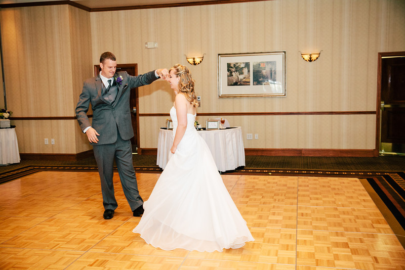 The First Dance at Christina & Andrew's Wedding Reception at the Hilton Garden Inn in Allen, Texas | Wedding & Portrait Photography by Mary Cyrus in Dallas & Beyond