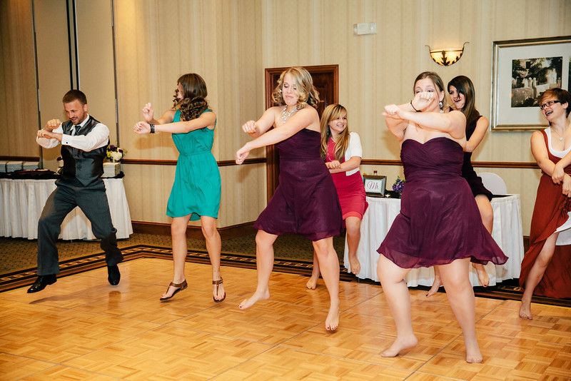 Dancing Gangnam Style at Christina & Andrew's Wedding Reception at the Hilton Garden Inn in Allen, Texas | Wedding & Portrait Photography by Mary Cyrus in Dallas & Beyond