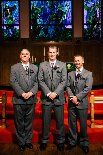 Andrew's with his groomsmen at Our Savior Lutheran Church in McKinney, Texas | Wedding & Portrait Photography by Mary Cyrus in Dallas & Beyond