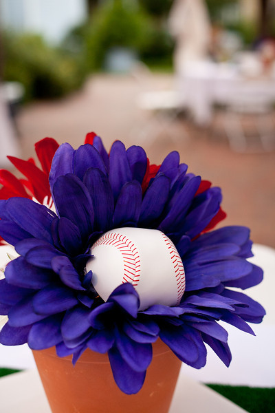 Daisy & baseball centerpieces | Wedding Photography in Dallas, Texas & Beyond by Mary Cyrus