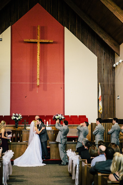 The First Kiss at Jen & Michael's First United Methodist Church of Lindale Wedding | ©Mary Cyrus Photography - Portraits & Weddings in Dallas & Beyond